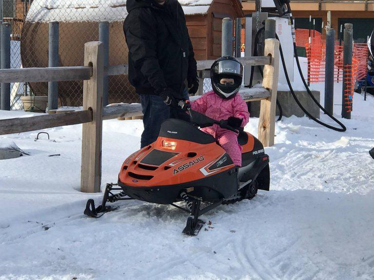 Snowmobiling at Pats Landing Resort Hayward