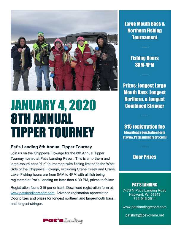 Annual Tipper Tourney hosted at Pat's Landing Resort