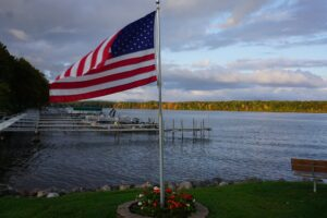 Pats Landing Resort American Flag