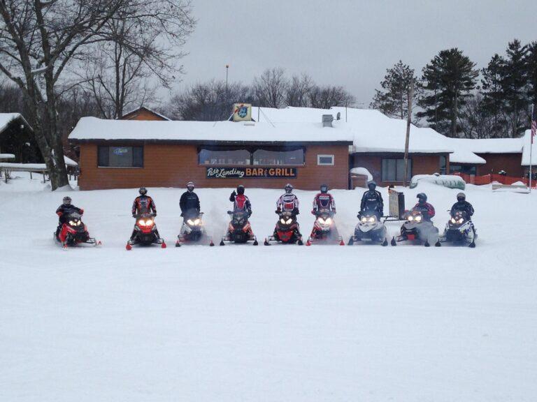 Pats landing snowmobile group