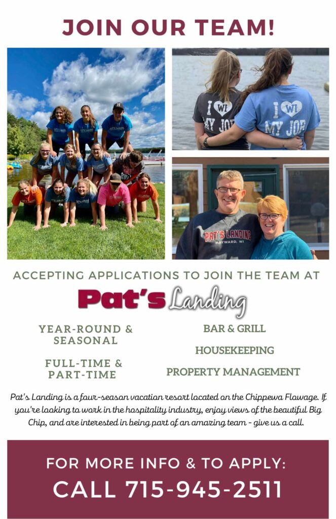 Join our team at Pats Landing